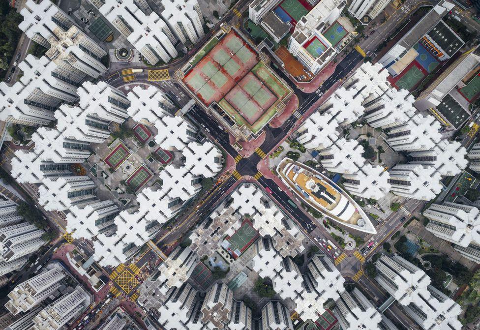 Hong Kong Kowloon Kuş Bakışı