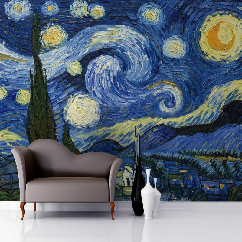 Yıldızlı Gece Temalı Oturma Odası