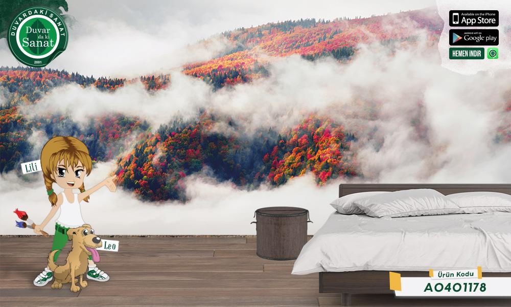 Duvardaki Sanat Bulutların Ardından Duvar Kağıdı