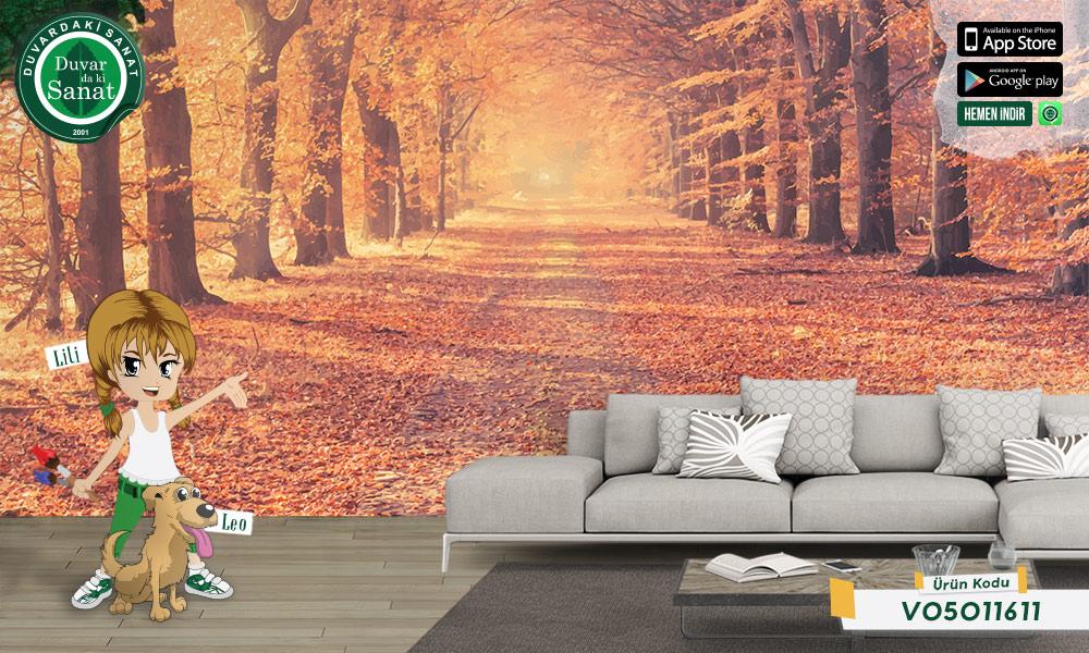 Duvardaki Sanat Sonbahar Duvar Kağıdı