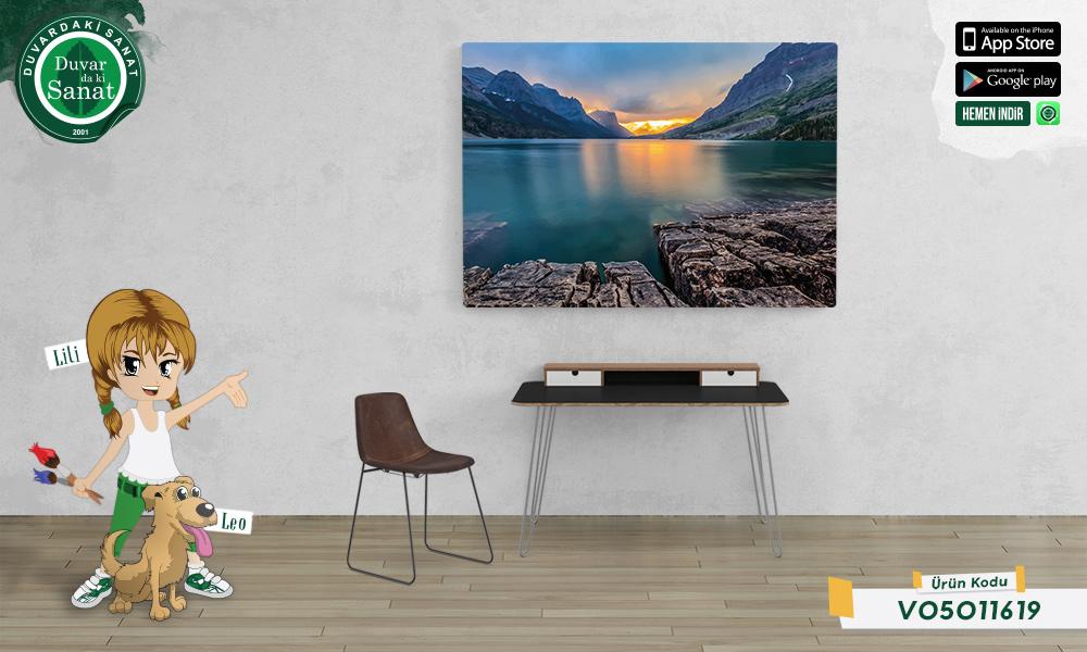 Duvardaki Sanat Mary Gölü Kanvas Tablo