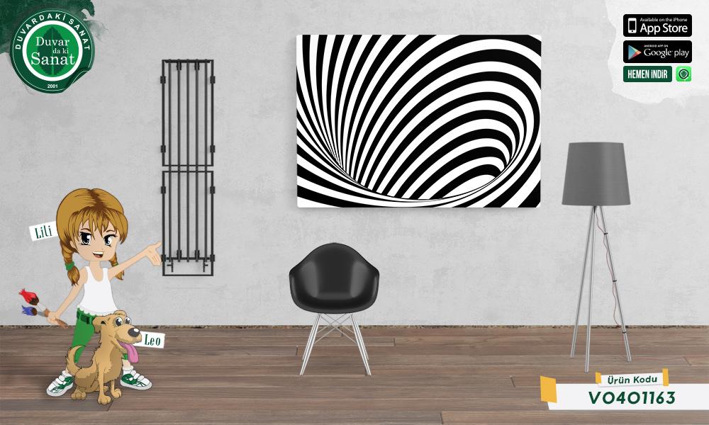 Duvardaki Sanat Büyük Boşluk 3 Boyutlu Kanvas Tablo