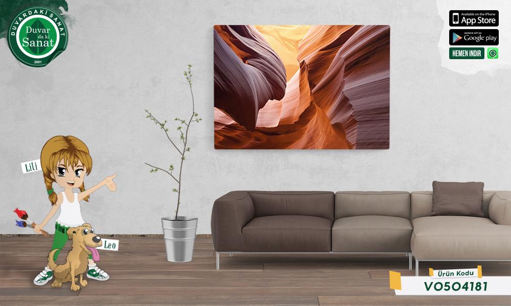 Duvardaki Sanat Büyük Kanyon 3 Boyutlu Duvar Kağıdı