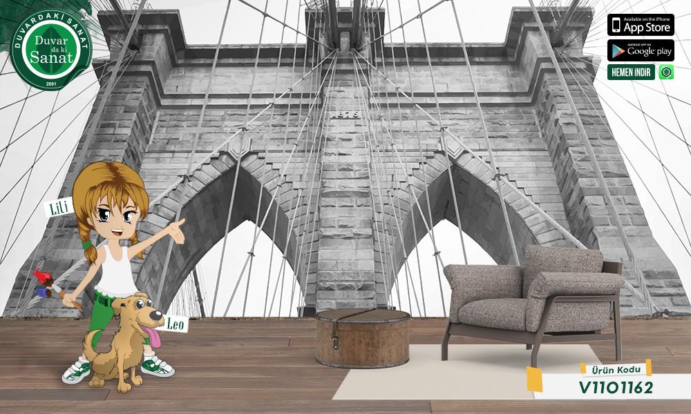 Duvardaki Sanat Brooklyn Köprüsü 3 Boyutlu Duvar Kağıdı
