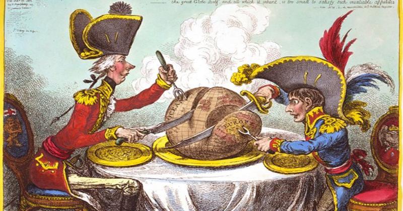 kapak- Napolyon ve William Pitt dünyayı paylaşırken